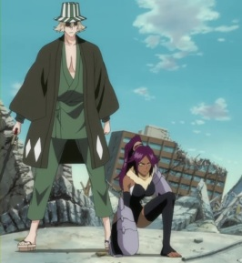 Kisuke Urahara (left) and Yoruichi Shihouin (right)