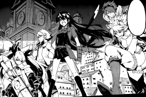 From Right to Left: Leone, Lubbock, Akame, Tatsumi, Mine