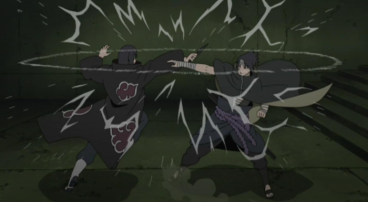 Itachi Uchiha (right), Sasuke Uchiha (left)